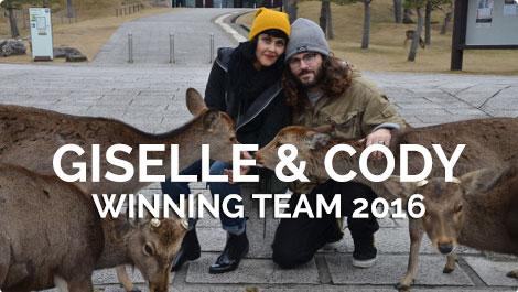 Sponsored Vegan Travelers - Cody & Giselle