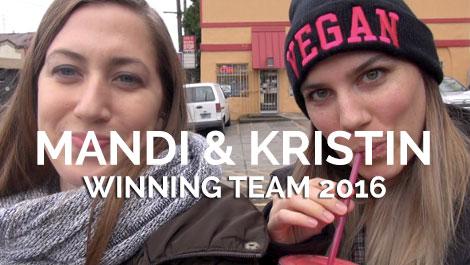 Sponsored Vegan Travelers - Mandi & Kristin