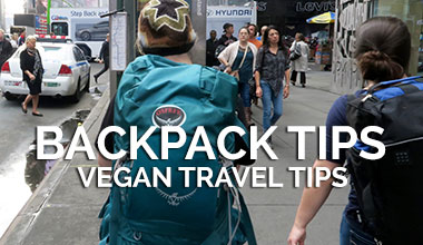 Backpack Tips Vegan Travel