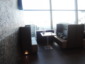 2016/05/23 Helsinki Airport Terminal 2 Upstairs Couches VeganTravel Vegan Travel