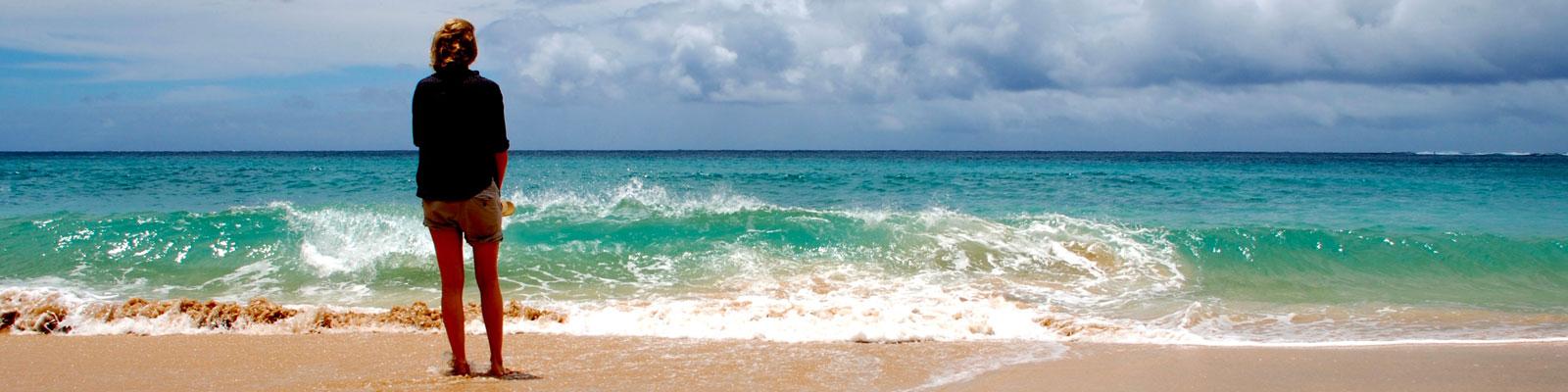 Vegan Traveler Blogs & Videos - Kauai Beach - Vegan Travel