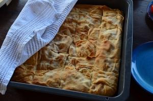 a homemade greek pie