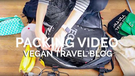 Vegan Traveler Blog - Packing Video - Vegan Travel