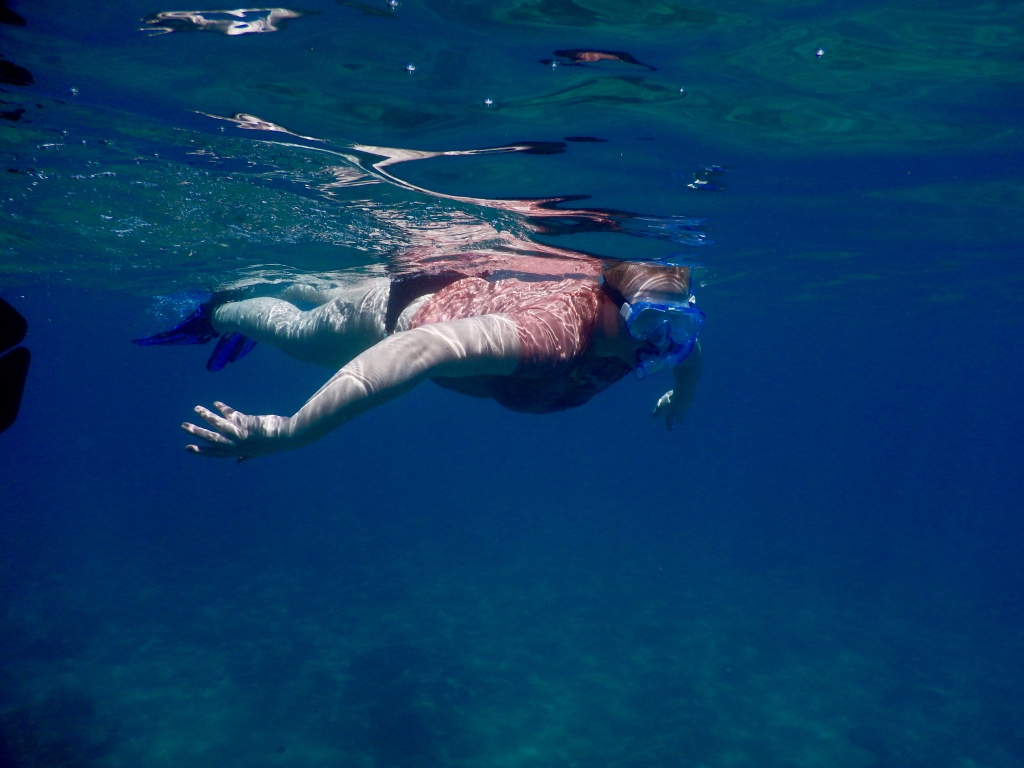 2016:05:29 Kaananpali Black Rock Beach Snorkeling Vegantravel Amanda