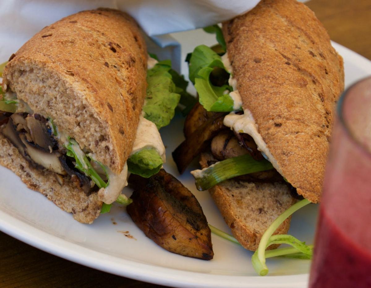 Anastasia Roasted Mushroom Sandwich