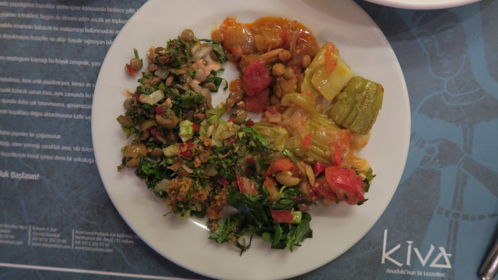 plate of vegan food in galata istanbul