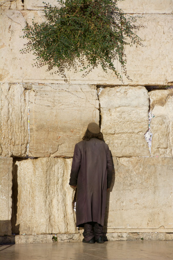 Prayer at the Western Wall of Jerusalem