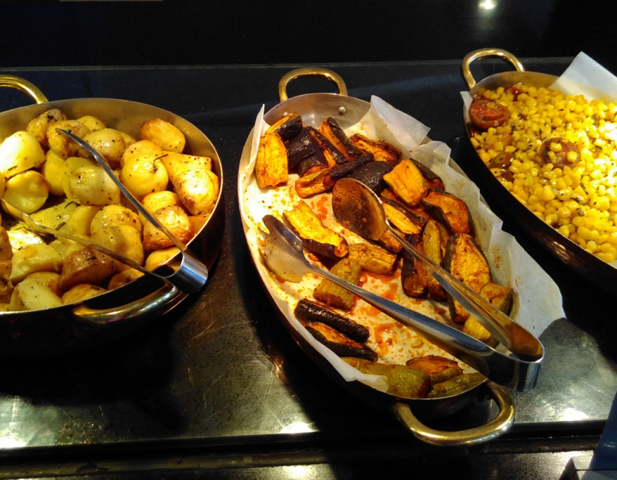 Sheraton Hotel 'Vegan-Corner' buffet breakfast