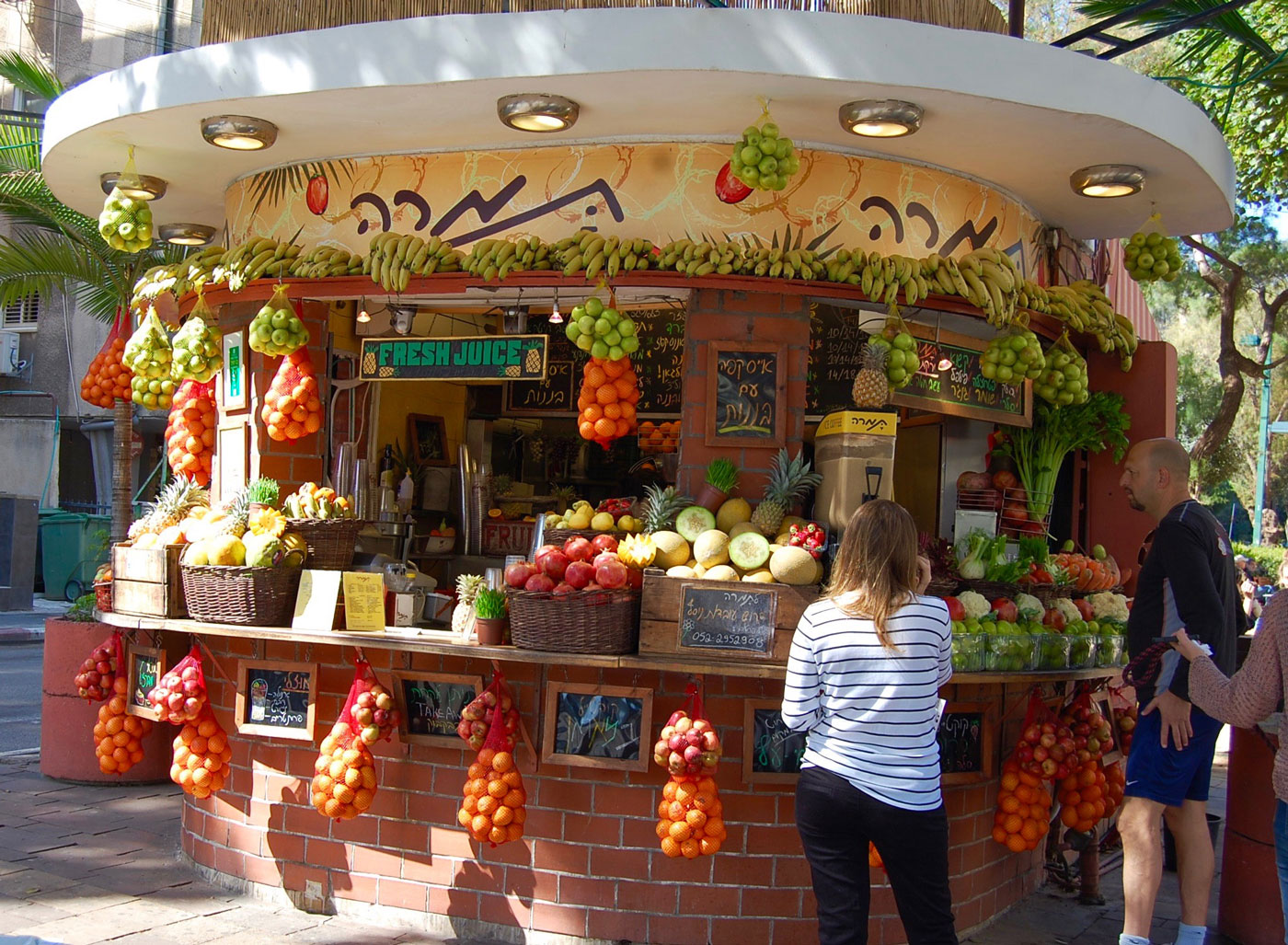 Juice Stands in Tel Aviv