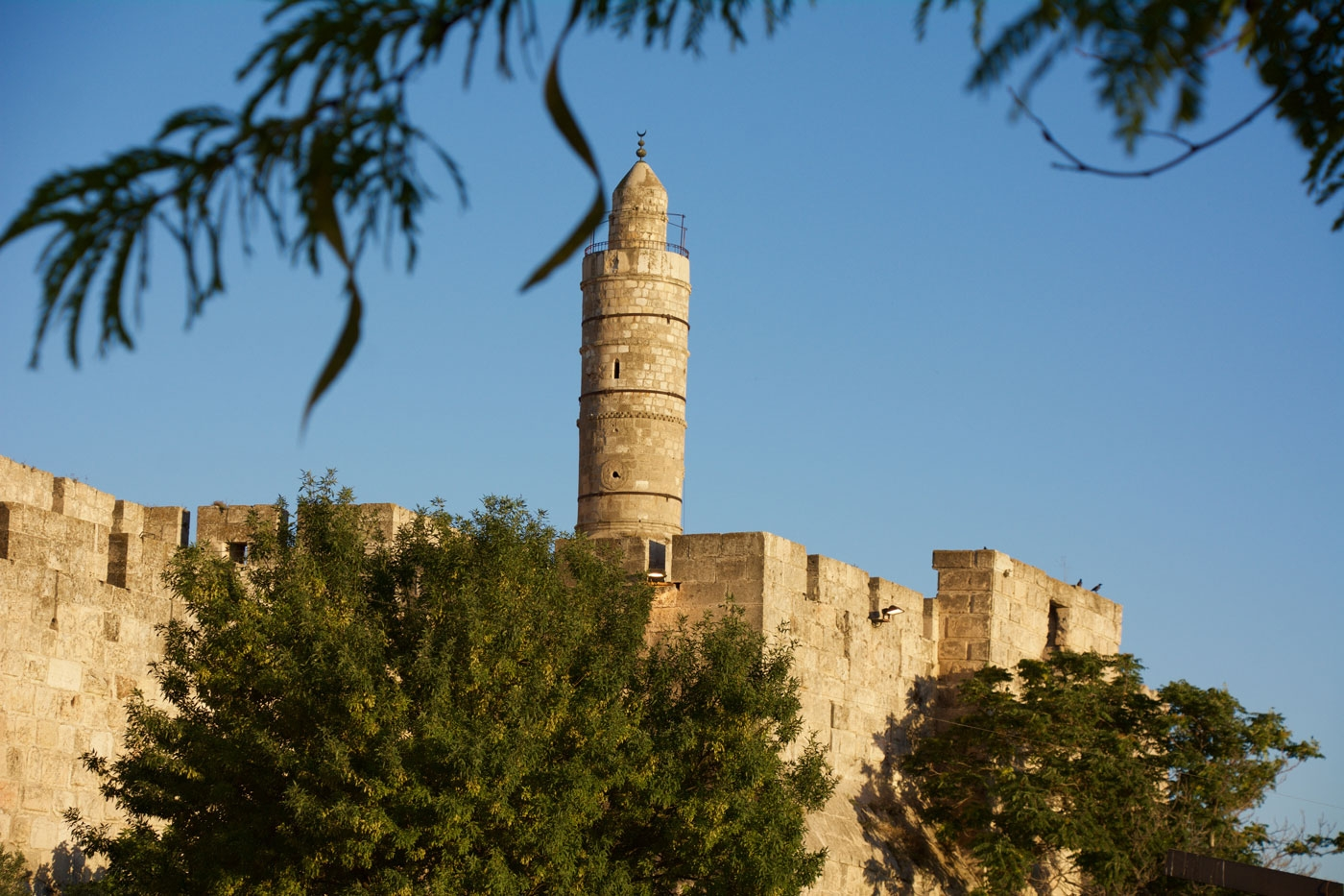 Tower of David also called Jerusalem Citadel – view from Jaffa Gate