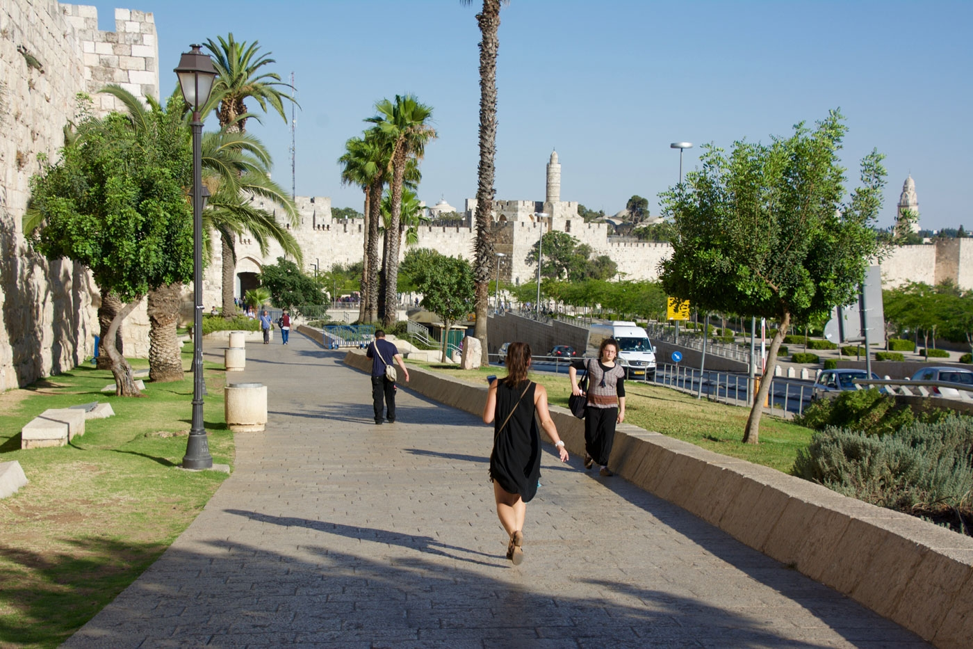 Walk to the Jaffa Gate entrance for the Old City of Jerusalem