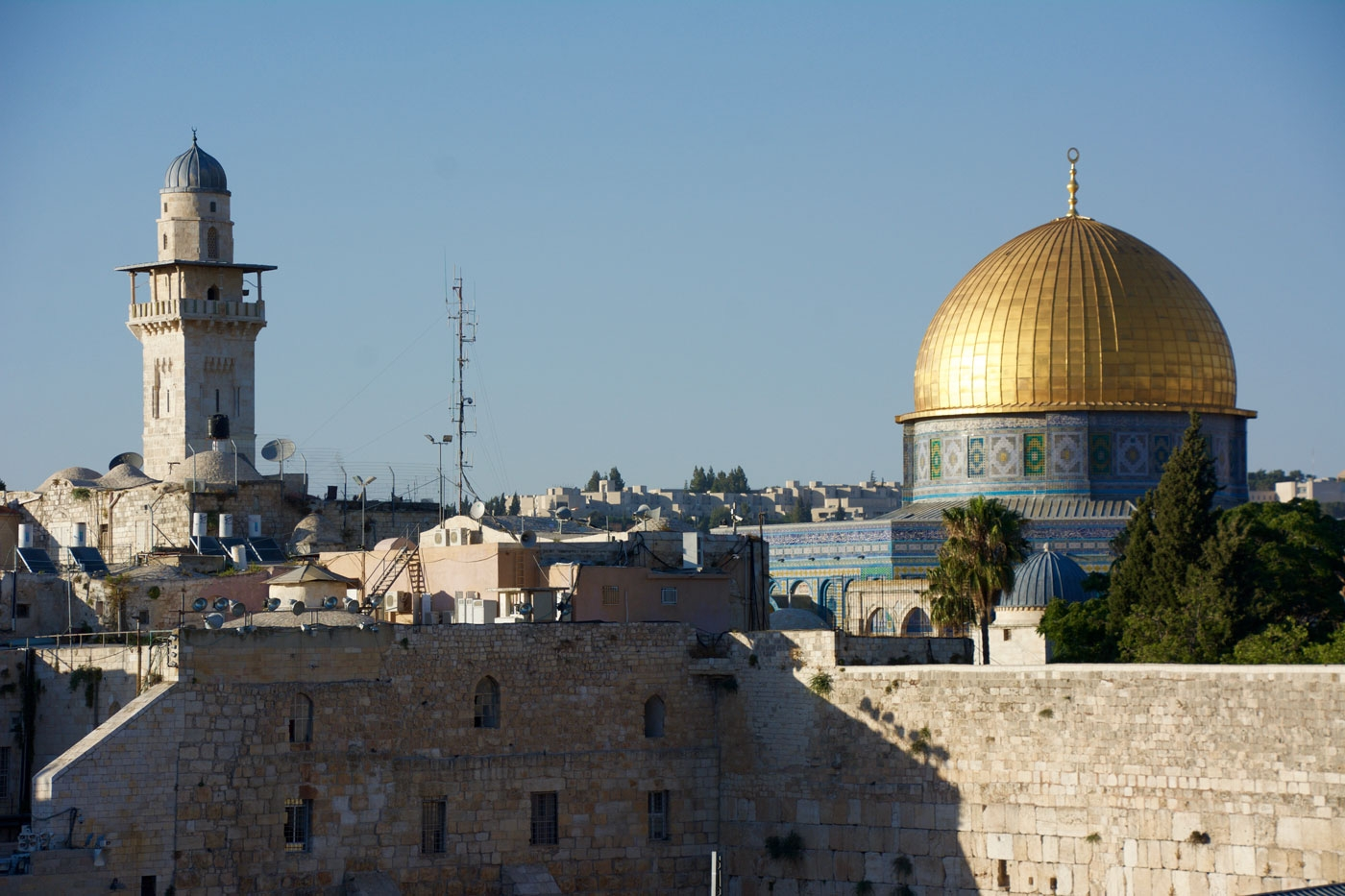 Western Wall & Dome of the Rock in Jerusalem's Old City