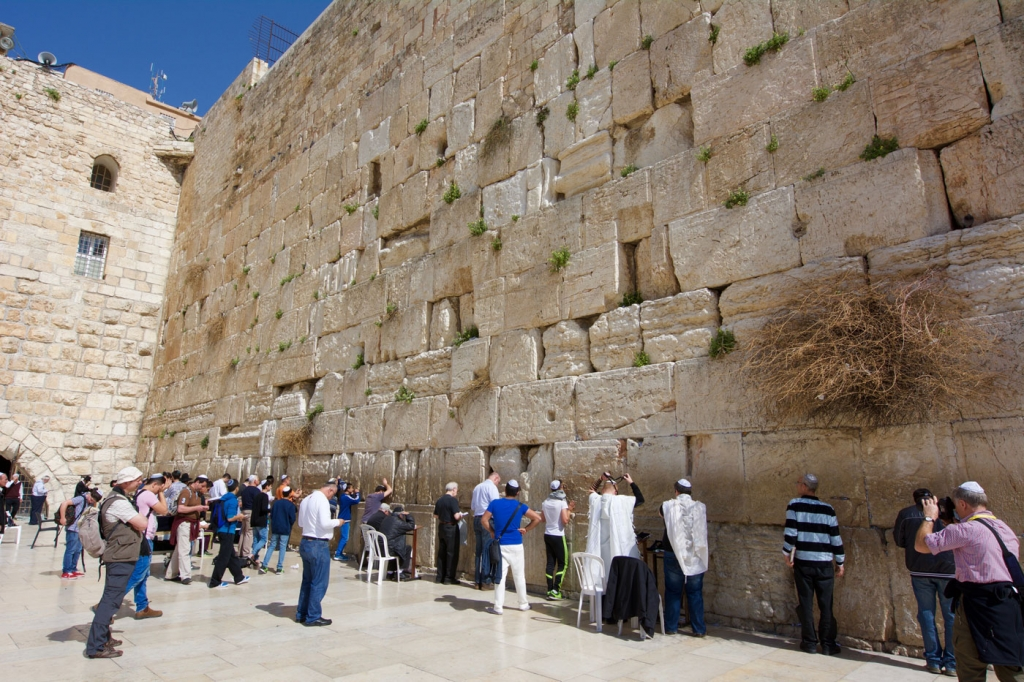 Western Wall in Jerusalem's Old City - also called Wailing Wall and Kotel - Vegan Travel