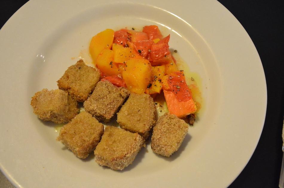 Baked Breaded Seitan with Pumpkin