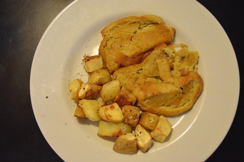 Baked Seitan and Potatoes