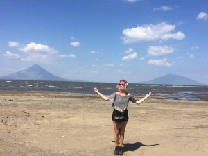 Lake Nicaragua in front of Ometepe Island.