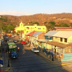 The center of San Juan Del Sur- taken from Casa Oro