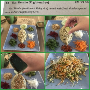 Delicious Nasi Kerabu from Seeds Garden