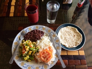 Comida typical! What a typical lunch/dinner looked for me @ casa de Marta!