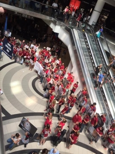 Protest inside of the Eaton Center Mall
