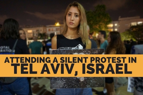 Attending an ALF Israel protest