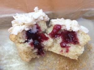 INSIDE a Vanilla Almond cupcake :)