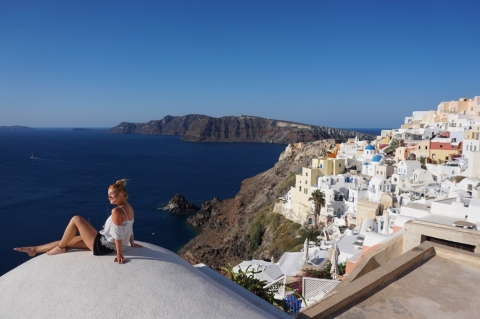 Vegan on the Greek Islands of Santorini and Mykonos