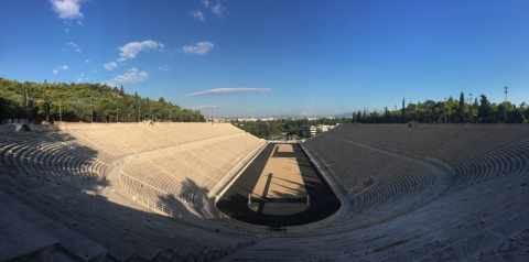 Exploring Athens + Visiting the First Olympic Stadium!