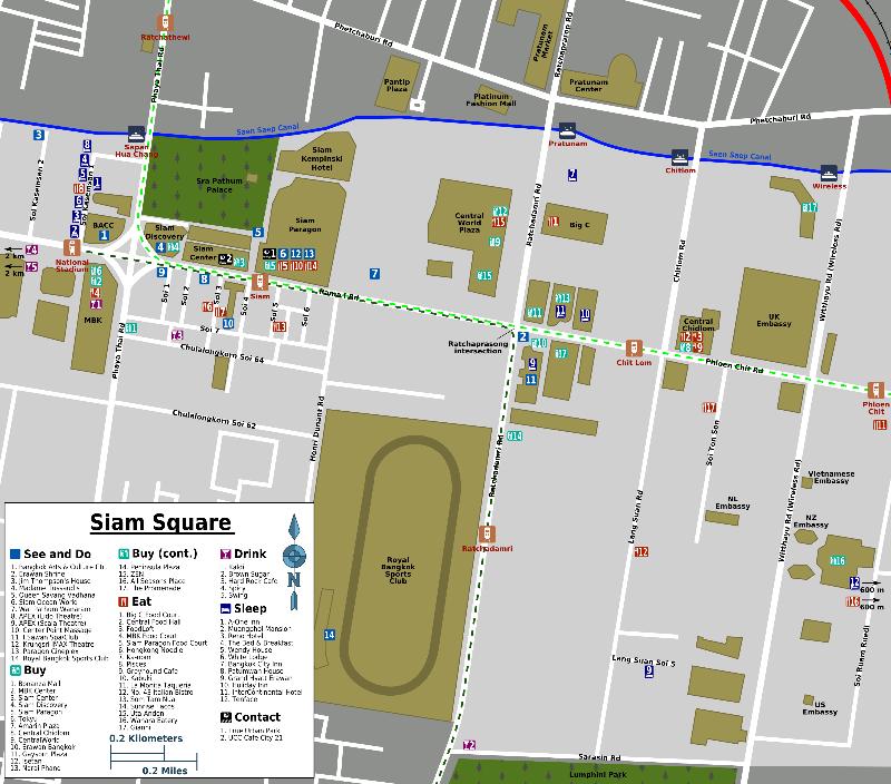Siamsquare-map