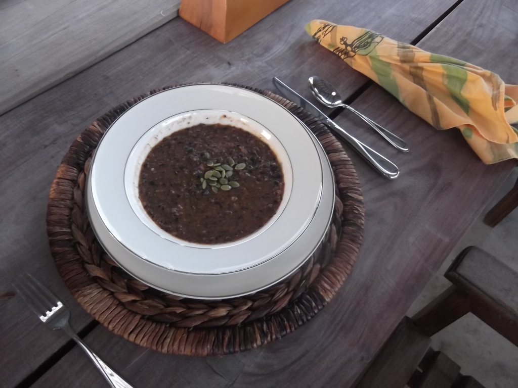Black Bean Soup at STUSH