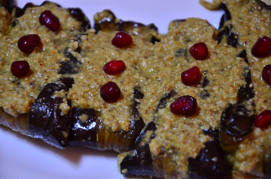 Aubergines With Walnut Paste