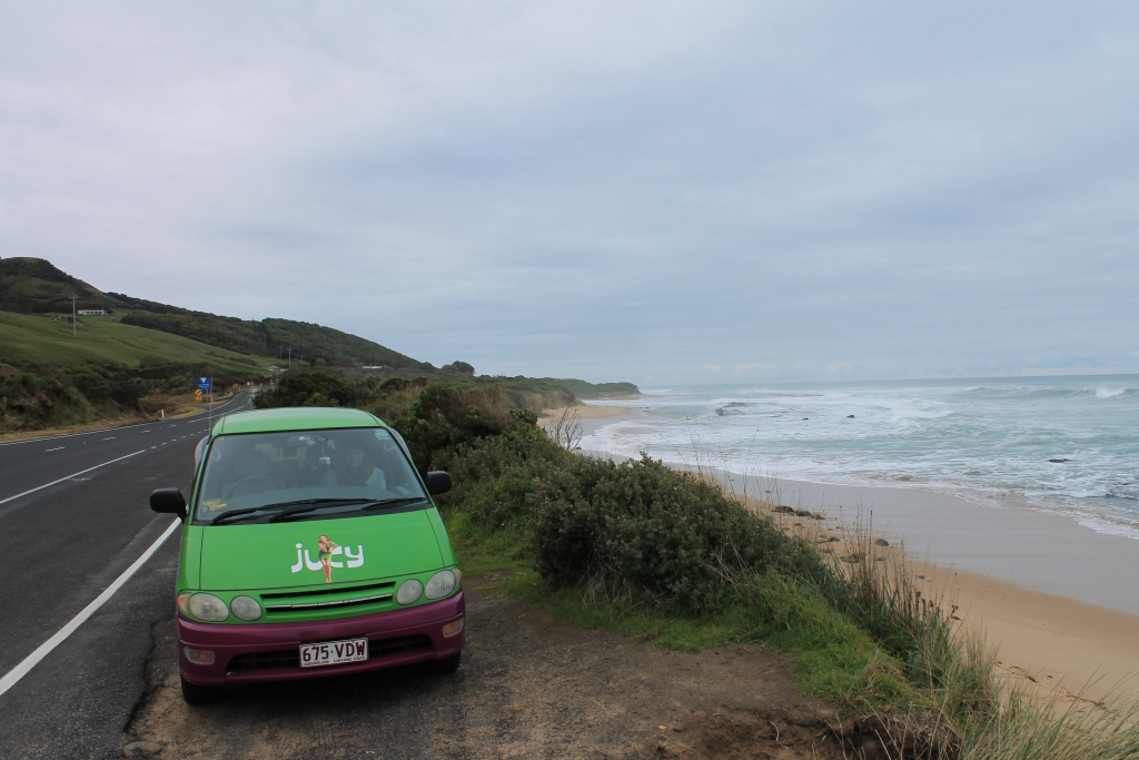 JUCY van on the Great Ocean Road