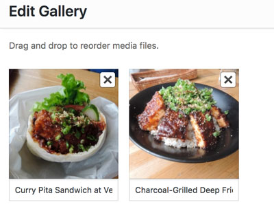 Create Galleries - Edit Gallery