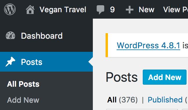 Starting a new blog on VeganTravel