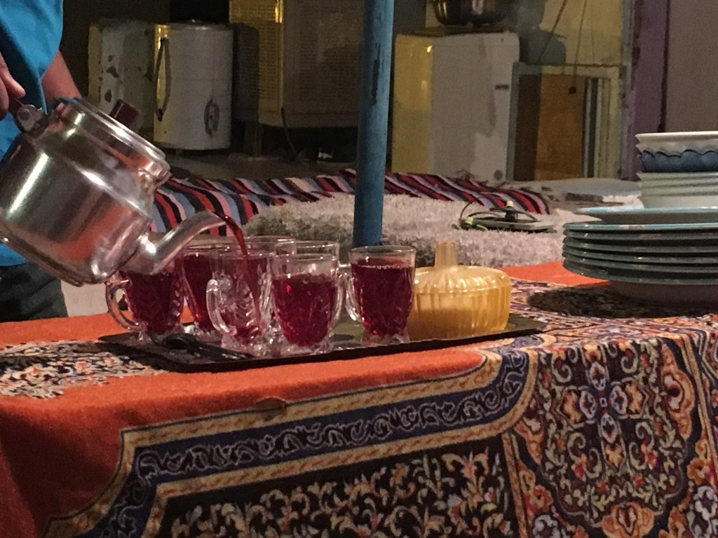 Nubian dinner starts with Hibiscus tea
