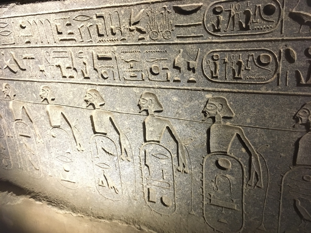 Look at the hieroglyph detail from the Luxor Temple