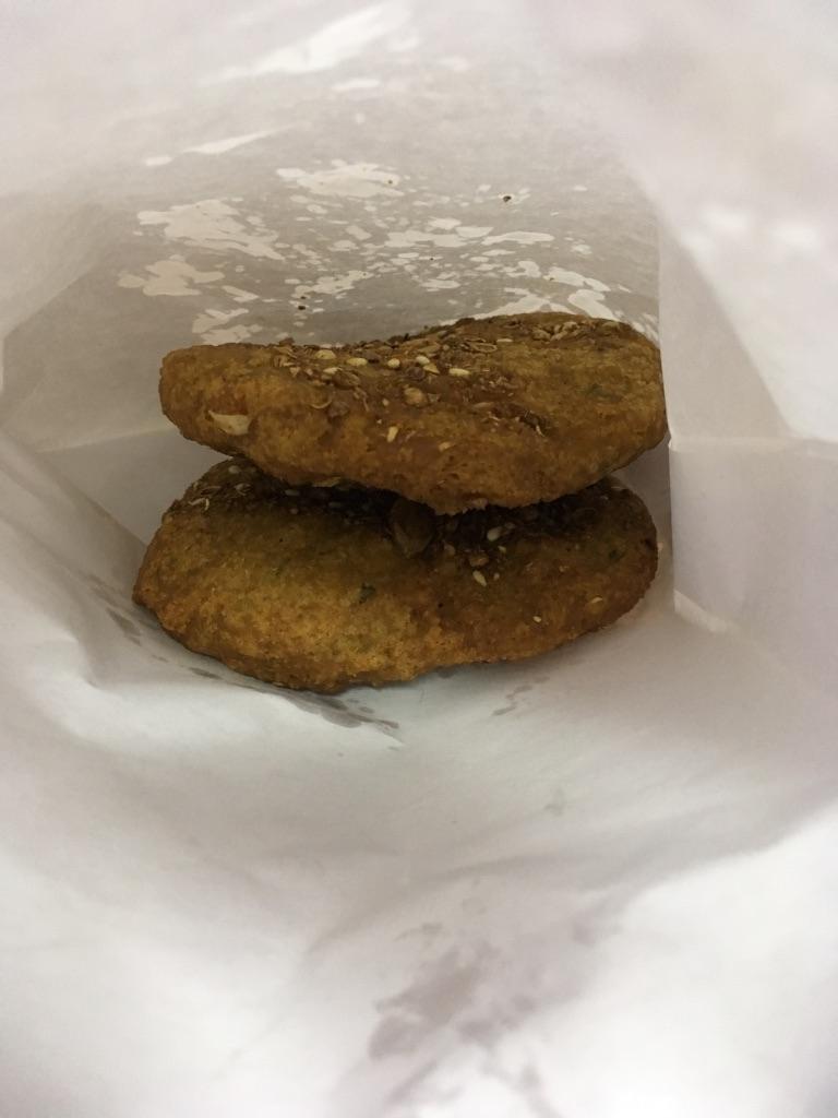 Nut falafel at Felfela