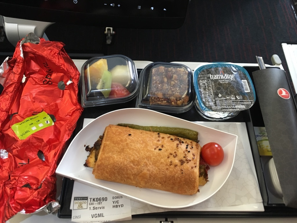 Vegan Meal on Turkish Airways