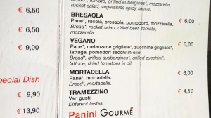 Vegan Panino at Termini Station
