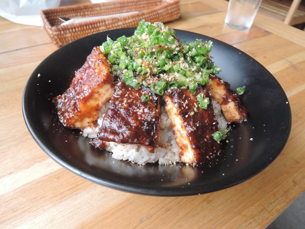 Charcoal-Grilled Deep Fried Tofu Rice Bowl