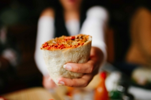 Papalote vegan burrito in Mission
