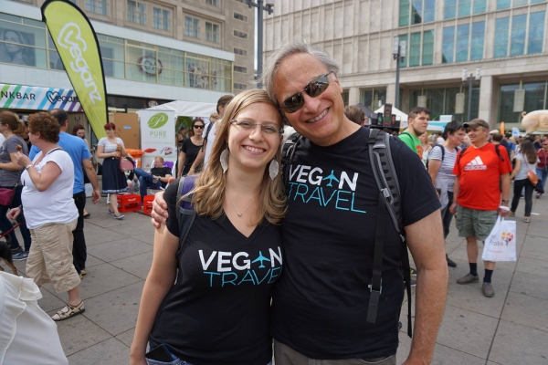 VeganTravel co-founders Michelle and Alan