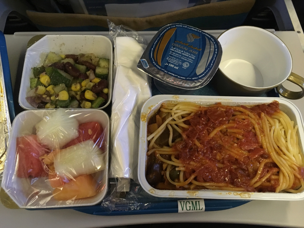 VGML Meal on Oman Air from Kathmandu to Muscat