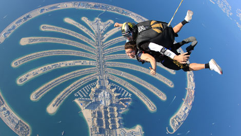 Suzy Skydiving in Dubai, UAE