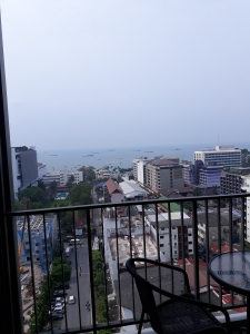 View of Pattaya's bay and Beach Road taken from Base apartment complex