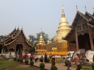 Inside the Wat Phra Sing temple complex, Chang Mai