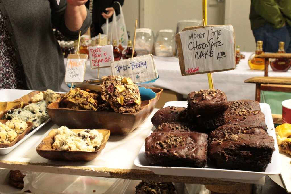 vegan baked goods at Toronto's St. Lawrence Market