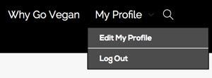 Edit Profile on VeganTravel.com