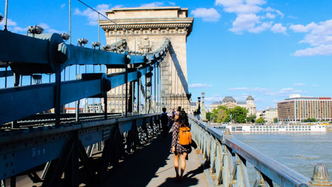 Summer Budapest Chain Bridge Hungary