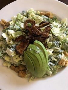 vegan caesar salad from top